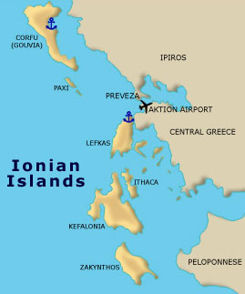 Ionian Islands Yacht Charter in Greece Sailing Itineraries Lefkada