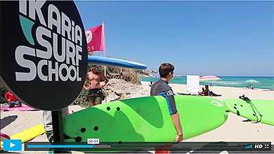 Ikaria Surf School Vimeo Video Intro
