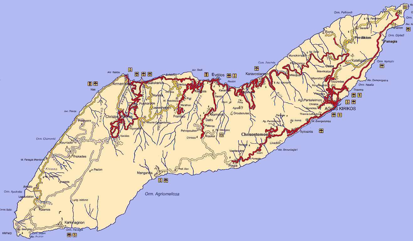 Ikaria Maps Island Ikaria Map List Ikaria Xartes